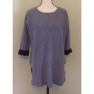 Tahari Gray Sweatshirt Top Sz S Over-Sized Tunic